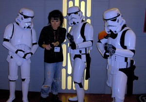 Some Stormtroopers teaching me to fight spambots at Phoenix Comicon '09
