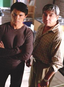 Lou Diamond Phillips and Graham Greene