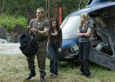 "Henry Rollins, Aleksa Palladino and Erica Leerhsen in ""Wrong Turn 2"""